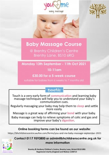 Baby Massage course poster