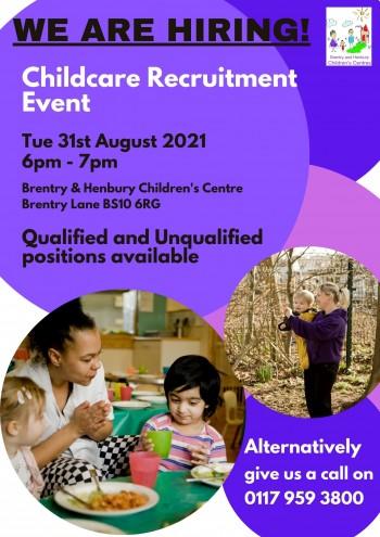 Childcare recruitment evening poster