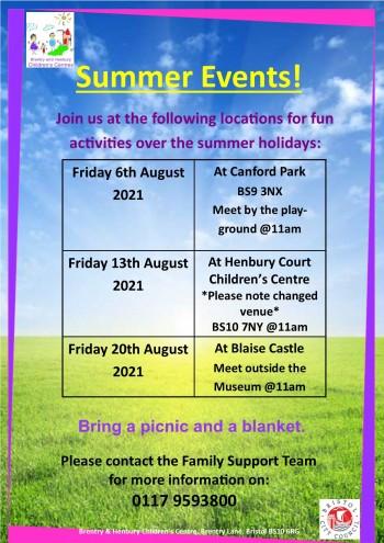 Summer Event Poster August 2021