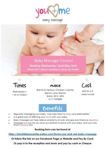 baby massage 2019 poster BHCC
