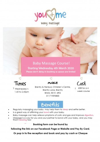 baby massage 2020 poster  BHCC